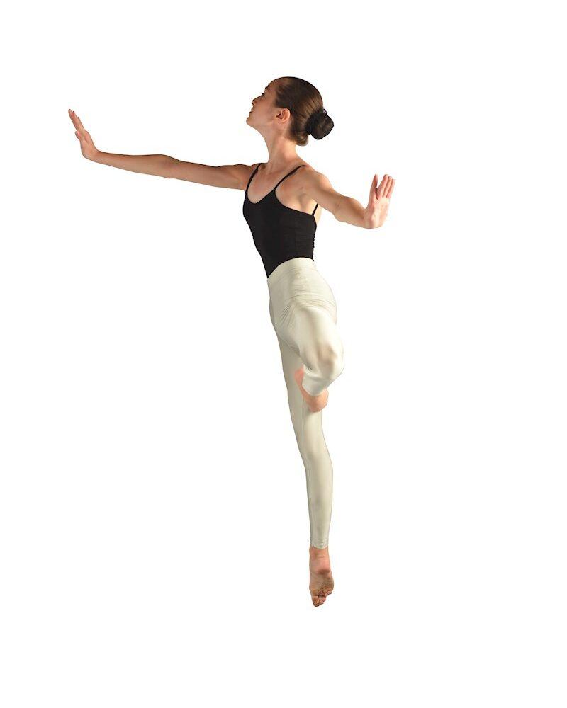 CACOON Girls/Womens Shiny Seamless High Waist 7/8 LYCRA Leggings (Lemon Chiffon)
